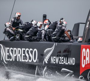 Thousands of fans enjoy the thrilling race of day two of the America's Cup Finals