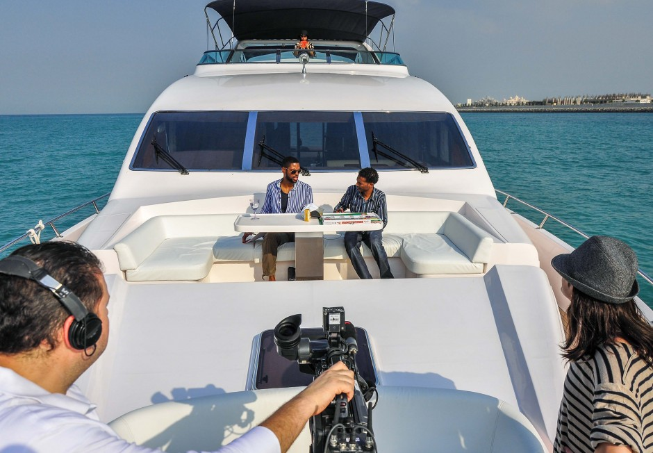 Dubai One TV aboard Majesty 88 Yacht by Gulf Craft
