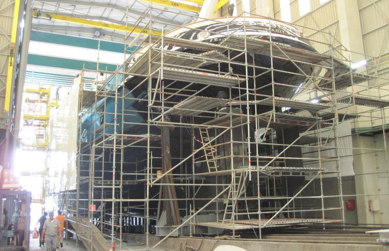 Expedition yacht Seawolf - scaffolding