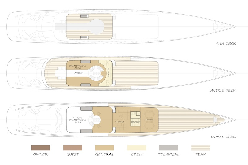 Future Concept Feadship Royale superyacht - layout — Yacht Charter