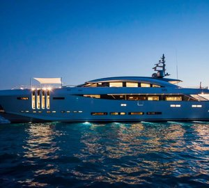 New photos of the striking VELLMARI' yacht by Rossinavi