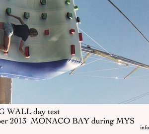 Green Yachts' Climbing Wall Day Test, Monaco Yacht Show 2013, September 25