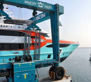 All-new Majesty 135 motor yacht SEHAMIA launched by Gulf Craft
