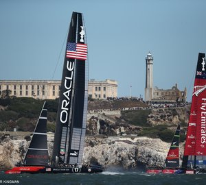 America's Cup Race 9 won by Oracle Team USA