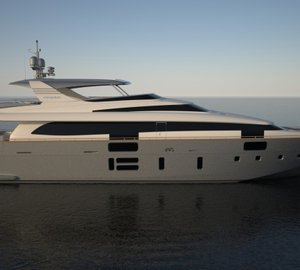 Newly launched and delivered Canados 108 motor yacht M&A's making her premiere at Cannes Boat Show 2013