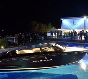 Riva attends Maserati Blue Carpet Night