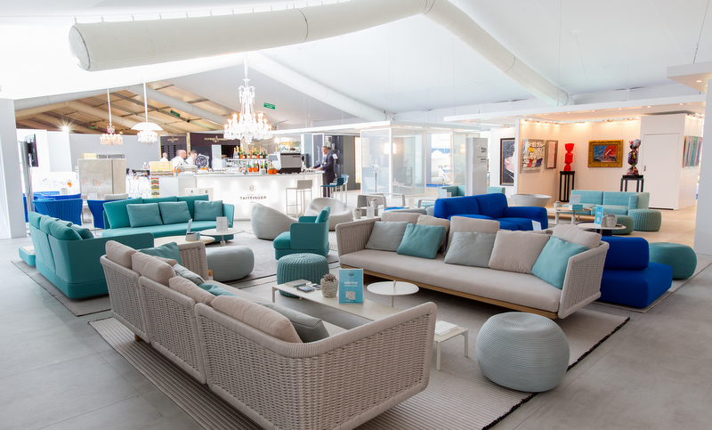 Upper Deck Lounge at the 2013 Monaco Yacht Show