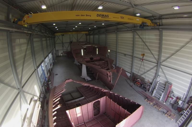 37m superyacht Wolfhound under construction at Graafship