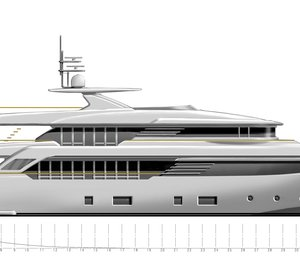 New 40m motor yacht CONERO project introduced by CRN at MYS
