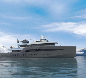 New 45m explorer motor yacht ICE CLASS concept presented by Fifth Ocean Yachts and Azure at MYS 2013