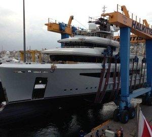 Photos from launch of 50m Cosmo Explorer motor yacht I-NOVA