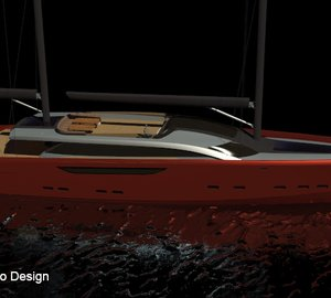 65m Motor Sailer Yacht SERENDIPITY concept by Andrew Trujillo