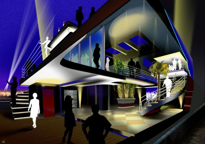 Aboard Ocean Atrium Yacht Concept