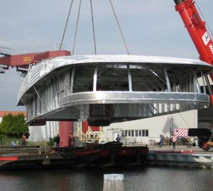 Photo of Feadship motor yacht Hull 686 Superstructure completed by Bloemsma Aluminiumbouw