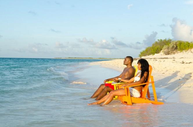 Anegada - Couple on the beach - Photographs © BVI Tourist Board