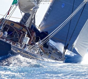 Dykstra-refitted sailing yacht VELSHEDA first at J-Class race Maxi Yacht Rolex Cup 2013