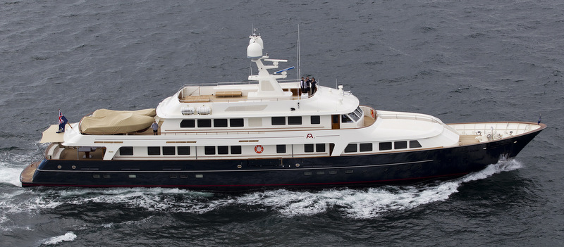 Feadship Yacht A2 after refit at Pendennis