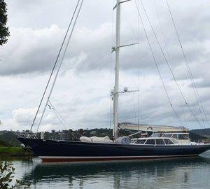 Fitzroy sailing yacht INMOCEAN under refit at Oceania Marine