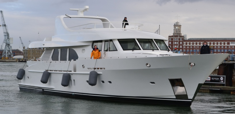 Moonen 94 superyacht Infinity arrives at Endeavour Quay