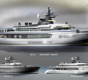Latest 50m motor yacht Ocean Atrium design - 'ultimate events yacht' by LP Design Ltd UK