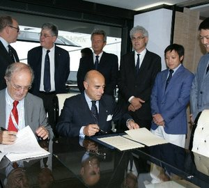 Prince Albert II of Monaco Foundation and RINA sign partnership agreement aboard Benetti motor yacht OCEAN PARADISE