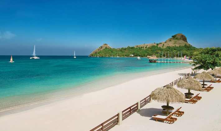 Pigeon Island and Beach - Image credit to Saint Lucia Tourism Board