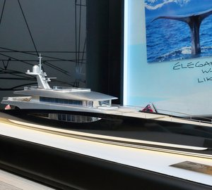 New images of scale models of 80m mega yacht DART80 concept by Royal Huisman and Andrew Winch
