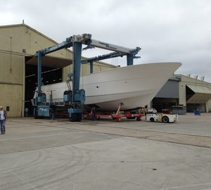 Hatteras working on second 100 RPH Yacht