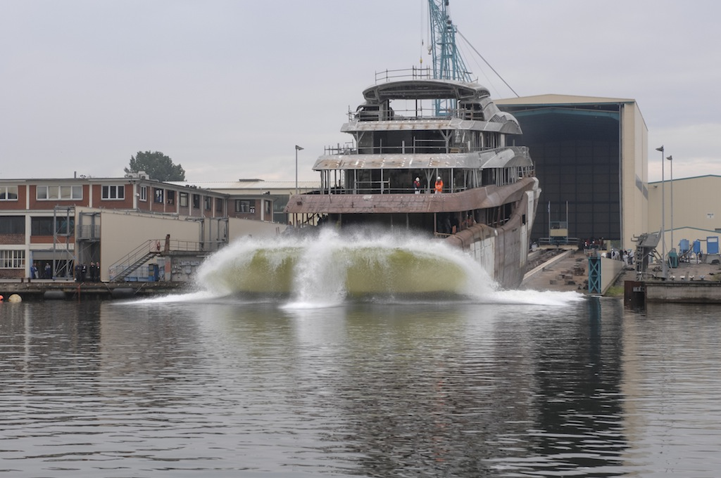 Superyacht Orchid designed by Reymond Langton at launch