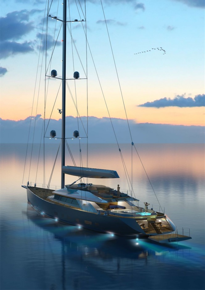 Troy superyacht - aft view