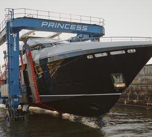 Princess 40M motor yacht Hull #3 launched by Princess Yachts