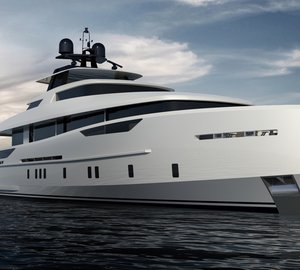 New 30m motor yacht concept designed by Omega Architects for the owner of Alia Yachts