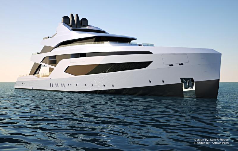 74m mega yacht LOFT concept by Luis Felipe Rocco