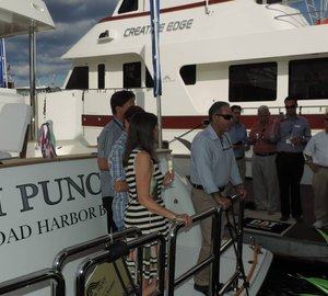 Ft. Lauderdale Boat Show Christening of 86' Outer Reef Yacht TI PUNCH