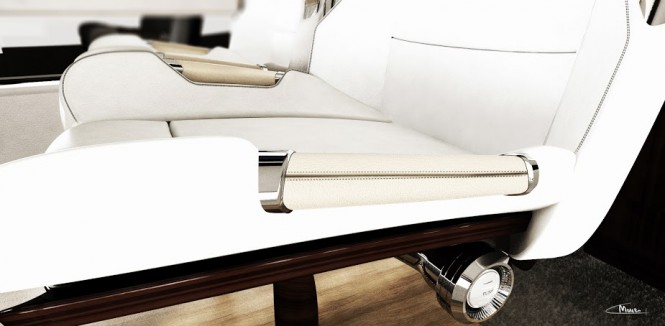 Detail of the Rolls-Royce 450EX yacht tender project by Stefan Monro
