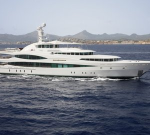 68m Feadship Super Yacht LADY CHRISTINE and 119m  Blohm + Voss Mega Yacht 'A' in NEW ZEALAND