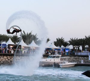 Flyboard Superyacht Toy on display at Qatar International Boat Show 2013