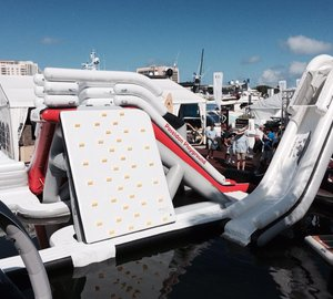 FunAir's participation in FLIBS with Poseidon Playground superyacht toy on display