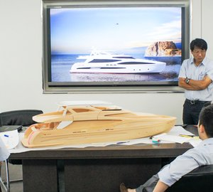 Horizon motor yacht RP102 RPH transitions from design phase into mold stage