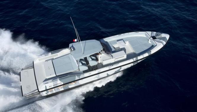 Hornet 1300 mega yacht tender from above