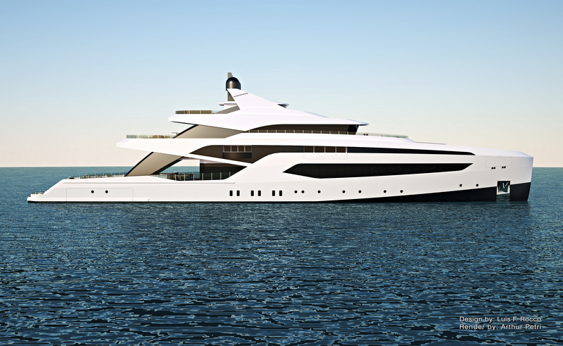 LOFT74 Yacht Concept - side view