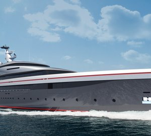 New 90m Oceanco mega yacht E-MOTION (DP046) design presented at MYS 2013