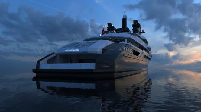 RIALTO superyacht design - aft view