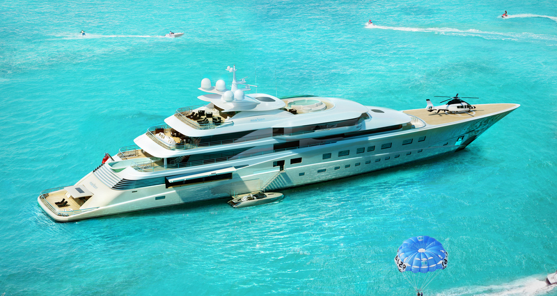 Superyacht DANA concept from above