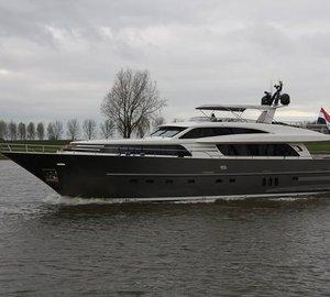 First sea trials for Wim van der Valk Continental III 26.00 Yacht