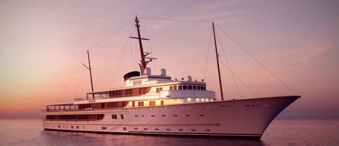 116m mega yacht Classic proposal by McPherson Yacht Design