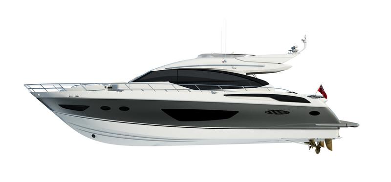 Motor yacht Princess S72 - side view
