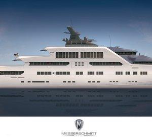 Latest 105m mega yacht MTT-REFUGIUM by Messerschmitt Yachts