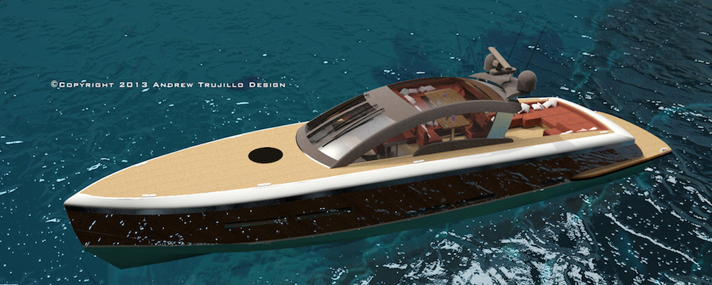 25m Wooden Luxury Yacht Concept by Andrew Trujillo