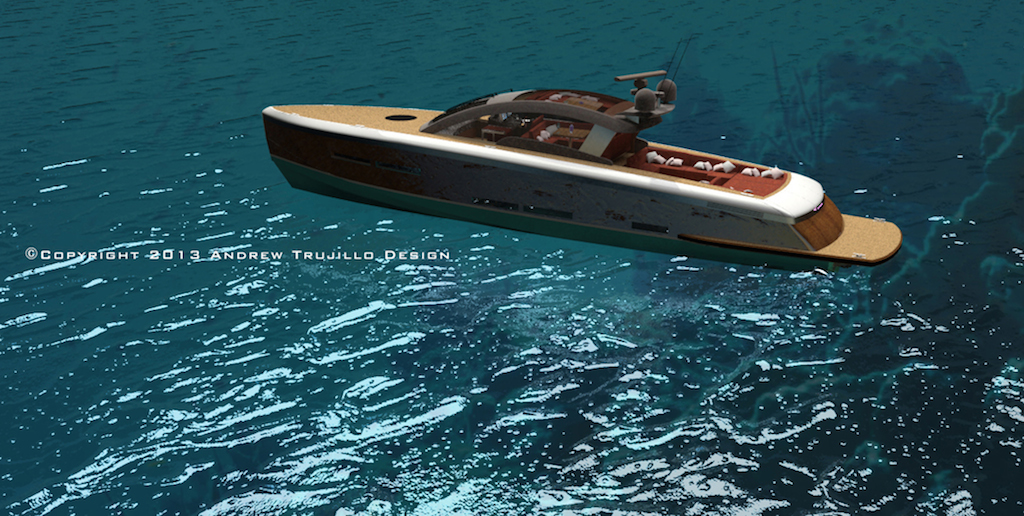 25m Wooden Motor Yacht Concept by Andrew Trujillo